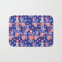 4th July Bath Mat