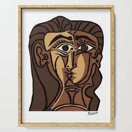 Pablo Picasso, Tete de Femme (Head Of A Woman) 1962 Artwork Reproduction Serving Tray
