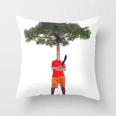 Warrior tree Throw Pillow