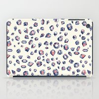 navy iPad Cases featuring Navy & Coral Crystals by micklyn