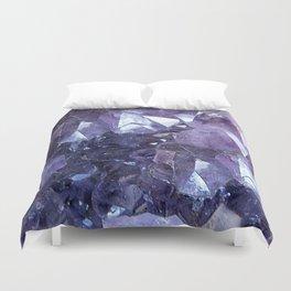 Amethyst Crystal Cluster Duvet Cover