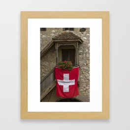 Switzerland Flag Framed Art Print