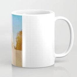 Golden Yellow Cornfield and Barn with Blue Sky Coffee Mug