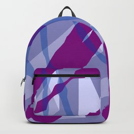 Purple Streaks & Blocks Abstract Art Backpack