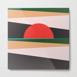 Abstract Sunset 12 Metal Print