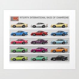 IROC 911s Art Print