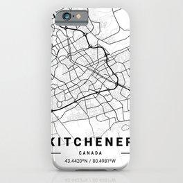 Kitchener Light City Map iPhone Case