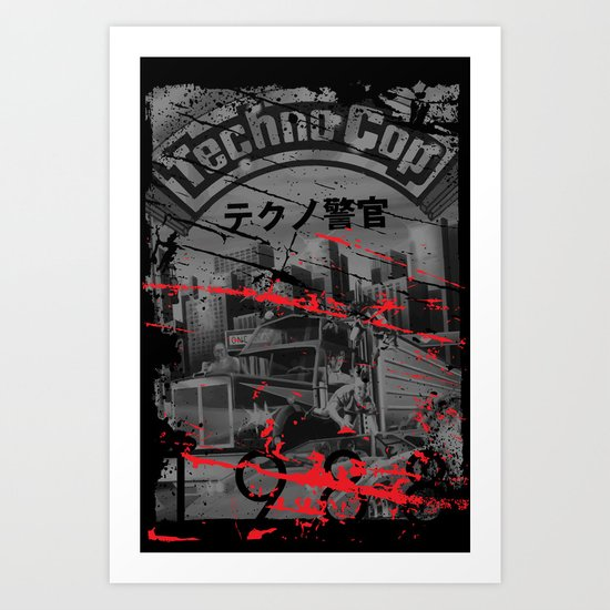 Techno Cop Art Print