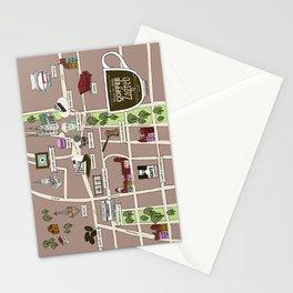 Zagreb Coffee Map Stationery Cards
