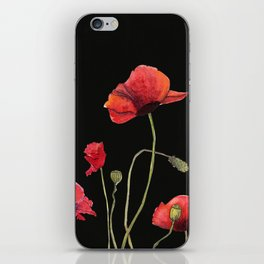 Poppies at Midnight iPhone Skin