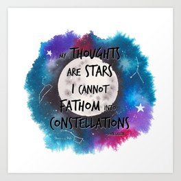 John Green quote from The Faults in Our Stars Art Print