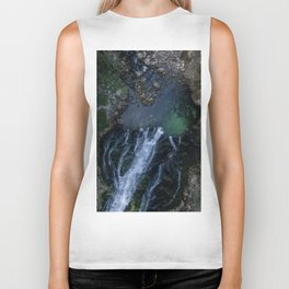königssee waterfall alps bayern forrest drone aerial shot nature wanderlust vertical lake pool Biker Tank
