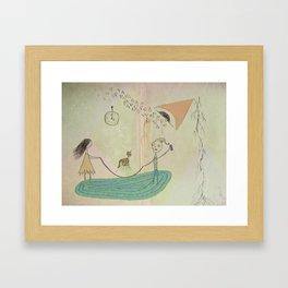 Jumping Rope in the Living Room Framed Art Print