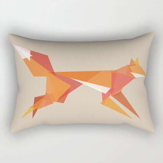 Fractal geometric fox Rectangular Pillow