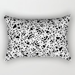 Chaotic white tangled ropes and dark lines. Rectangular Pillow