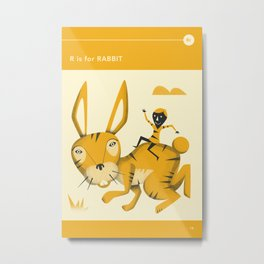 R is for Rabbit Metal Print