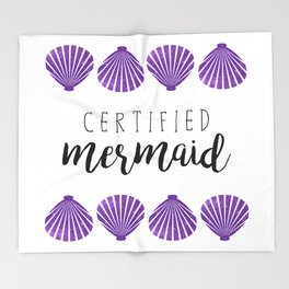 Certified Mermaid Throw Blanket