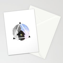 evening house Stationery Cards
