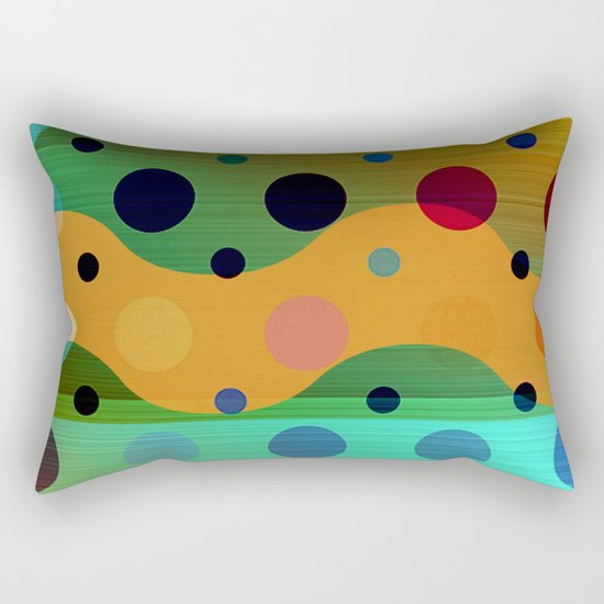 waves game II Rectangular Pillow