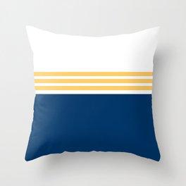 Modern Minimal Striped Blue 01 Throw Pillow
