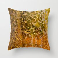 glass Throw Pillows featuring Glass by Veronika