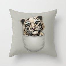 POCKET TIGER Throw Pillow