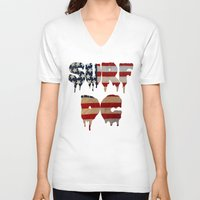 dc V-neck T-shirts featuring Surf DC by G. Shapero