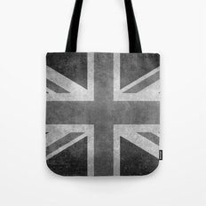 Union Jack  Vintage 3:5 Version in grayscale Tote Bag