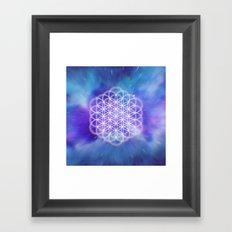 Trippy Sacred Geometry Framed Art Print