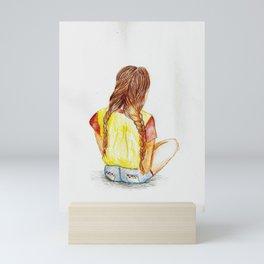 Sitting Around Mini Art Print
