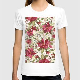 POINSETTIA - FLOWER OF THE HOLY NIGHT T-shirt