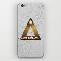 laura palmer iPhone & iPod Skins featuring Bastille #1 Laura Palmer by Thafrayer