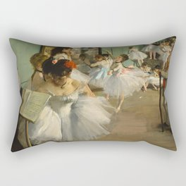 """Edgar Degas """"The dance class"""" Rectangular Pillow"""