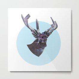 Deer in headlights Metal Print