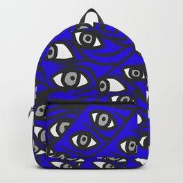 Freddie Eyeballs Sapphire Blue Backpack