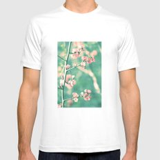 Softly Spring Love MEDIUM Mens Fitted Tee White
