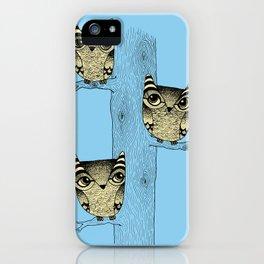 Owls (blue) iPhone Case