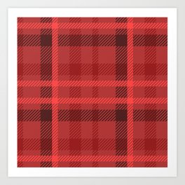 Red And Black Flannel Pattern Design Art Print