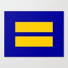 Equality Blue Canvas Print