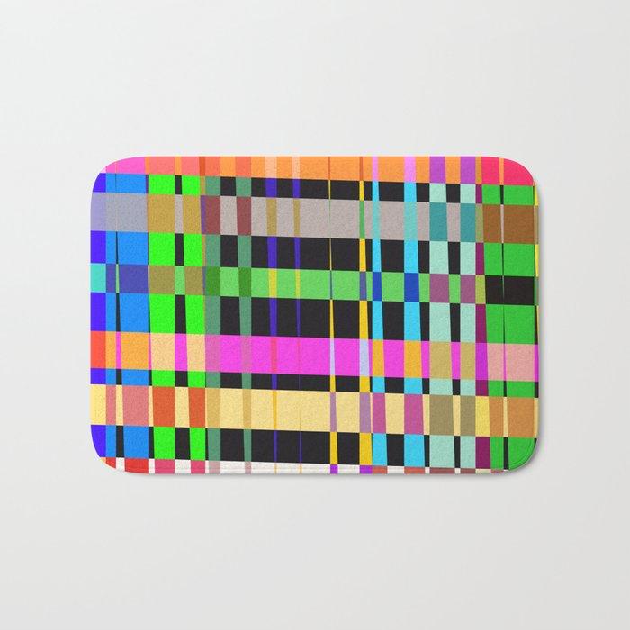inclined coloured stripes Bath Mat