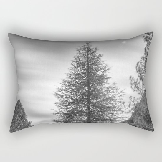 """""""Looking for the sky"""" Into the woods... BW Rectangular Pillow"""