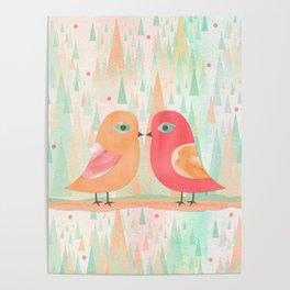 Spring Birds Poster