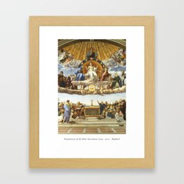 The Disputation of the Holy Sacrament - Raphael Framed Art Print