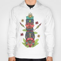 tiki Hoodies featuring Tiki totem by Binnyboo