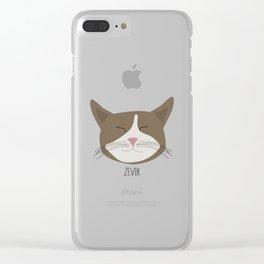 Family Cat Portraits, Zevik Clear iPhone Case