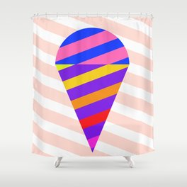 California Ice Cream Shower Curtain
