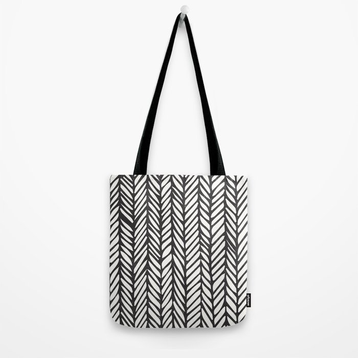 Black Threads Tote Bag