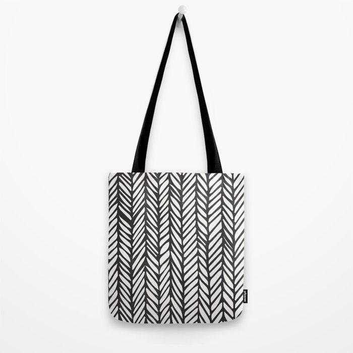 Black Threads Tote Bag