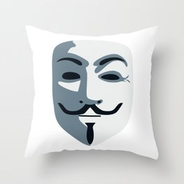 Anonymous Mask #society6 #decor #buyart #artprint Throw Pillow