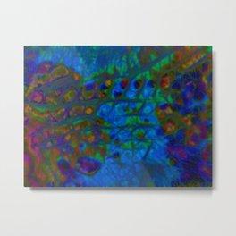 Blue IceTracks Metal Print
